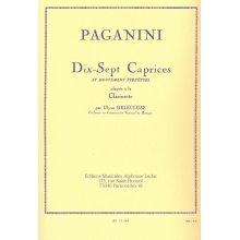 PAGANINI Dix-Sept Caprices et mouvement perpétuel