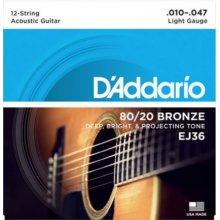D'Addario EJ36 10/47 12 corde