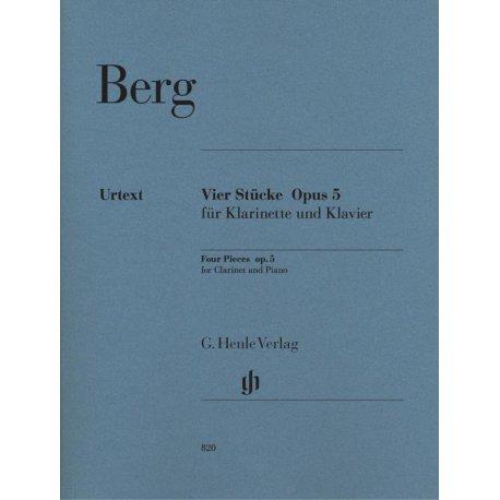 BERG A. Vier Stucke Opus 5 (Klarinette und Klavier)