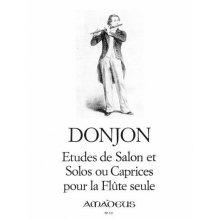 DONJON Etudes de salon et Solos ou Caprices