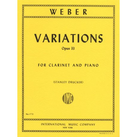 WEBER C.M. Variations Op.33 for Clarinet and Piano