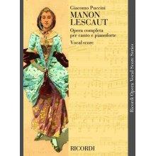 PUCCINI Manon Lescaut (canto e piano)
