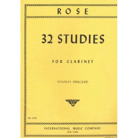 ROSE 32 Studies for Clarinet