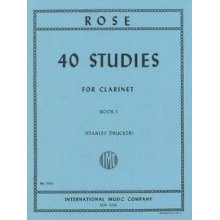 ROSE 40 Studies for Clarinet (vol.1)