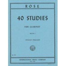 ROSE 40 Studies for Clarinet (vol.1)