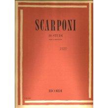 SCARPONI 10 Studi per clarinetto