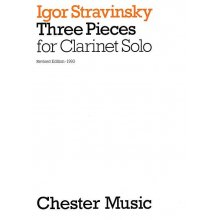 STRAVINSKY I. Three Pieces for Clarinet Solo