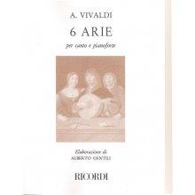 VIVALDI A. 6 Arie per Canto e Pianoforte