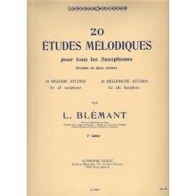 BLEMANT L. 20 Etudes Mélodiques pour tous les Sacophones