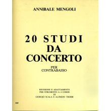 MENGOLI A. 20 Studi da concerto per Contrabbasso