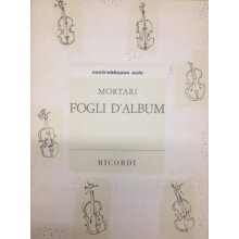 MORTARI V. Fogli d'Album per contrabbasso solo