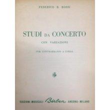 ROSSI F.B. Studi da concerto con Variazioni per Contrabbasso