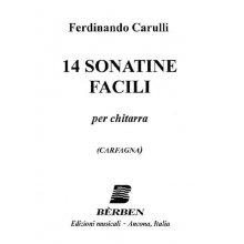 CARULLI F. 14 sonatine facili per chitarra