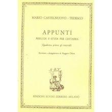 CASTELNUOVO-TEDESCO M. Appunti (Quaderno I - gli intervalli)