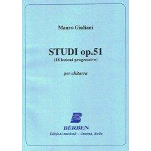 GIULIANI M.Studi op.51 (18 lezioni progressive) per chitarra
