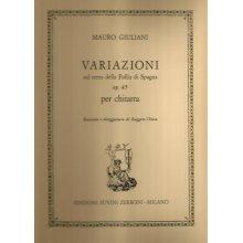 GIULIANI M. Variazioni sul tema della Follia di Spagna op.45 per chitarra