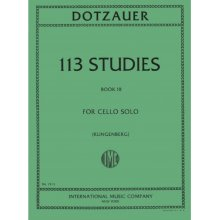 DOTZAUER 113 Studies for Cello solo book III