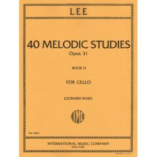 LEE S. 40 melodic studies opus 31 book II