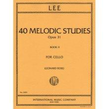 LEE S. 40 melodic studies opus 31 book II
