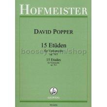 POPPER D. 15 Etuden fur Violoncello Op.76-I