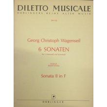 WAGENSEIL G.C. Sonata II in F per 3 Violoncelli e Contrabasso