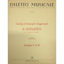 WAGENSEIL G.C. Sonata V in B per 3 Violoncelli e Contrabasso