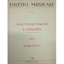 WAGENSEIL G.C. Sonata VI in G per 3 Violoncelli e Contrabasso