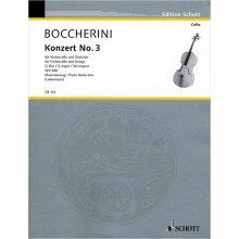BOCCHERINI L. Konzert No.3 fur Violoncello und Streicher G-Dur WV480