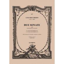BOCCHERINI L. Sonata N.2 e N.3 per violoncello e tastiera