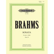 BRAHMS J. Sonate e-Moll Opus 38 Violoncello und Klavier