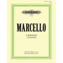 MARCELLO B. 6 sonaten Violoncello und Basso continuo