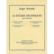 WARTELLE R. 14 Etudes Techniques pour Clarinette