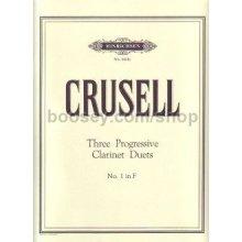 CRUSELL B. Three Progressive Clarinet Duets (No.1 in F)