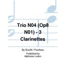 BOUFFIL J. Trio n.4 (op.8 n.1) en Sol Majeur pour trois clarinettes
