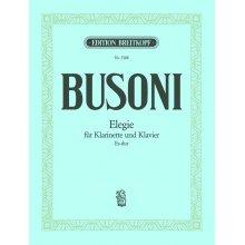 BUSONI Elegie fur Klarinette und Klavier Es-dur