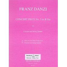 DANZI F. Concert Piece No.3 in B flat (Reduction Clarinet et Piano)