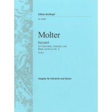 MOLTER Konzert fur Klarinette, Streicher und Basso continuo Nr.3 G-dur