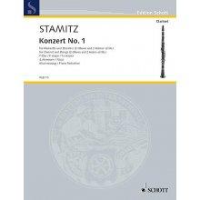STAMITZ J. Konzert no.1 F-Dur fur Klarinette und Streicher