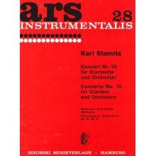 STAMITZ J. Konzert no.10 fur Clarinet und Orchester