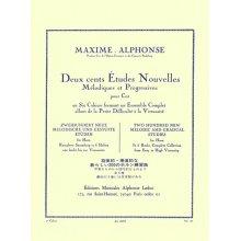 ALPHONSE M. 200 études nouvelles mélodiques et progressives pour Cor