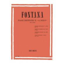 """FONTANA C. Passi difficili e """"a solo"""" per corno"""