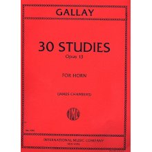 GALLAY J.F. Thirty Studies Opus 13 for Horn Solo