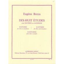 BOZZA Dix-Huit Etudes pour Hautbois