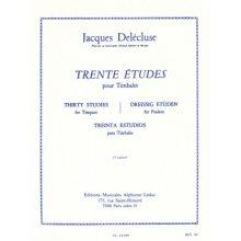 DELECLUSE J. Trente Etudes pour Timbales (2eme Cahier)