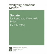 MOZART W.A. Sonate fur Fagott und Violoncello B-dur KV292