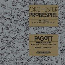 AA.VV. Orchester Probespiel kontrafagott