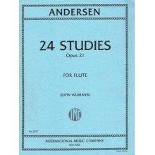 ANDERSEN 24 Studies Opus 21 for Flute (Wummer)