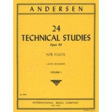 ANDERSEN 24 Technical Studies Opus 63 for Flute (Wummer) vol.I