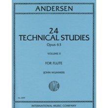 ANDERSEN 24 Technical Studies Opus 63 for Flute (Wummer) vol.II