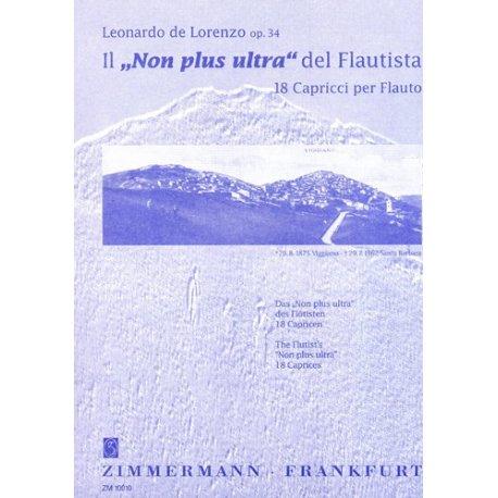 DE LORENZO 18 Capricci per Flauto Op.34